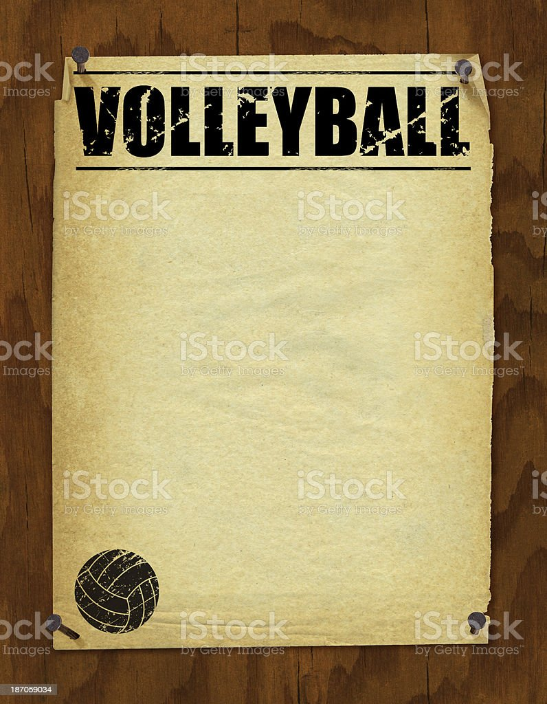Volleyball Poster Background - Retro royalty-free stock vector art
