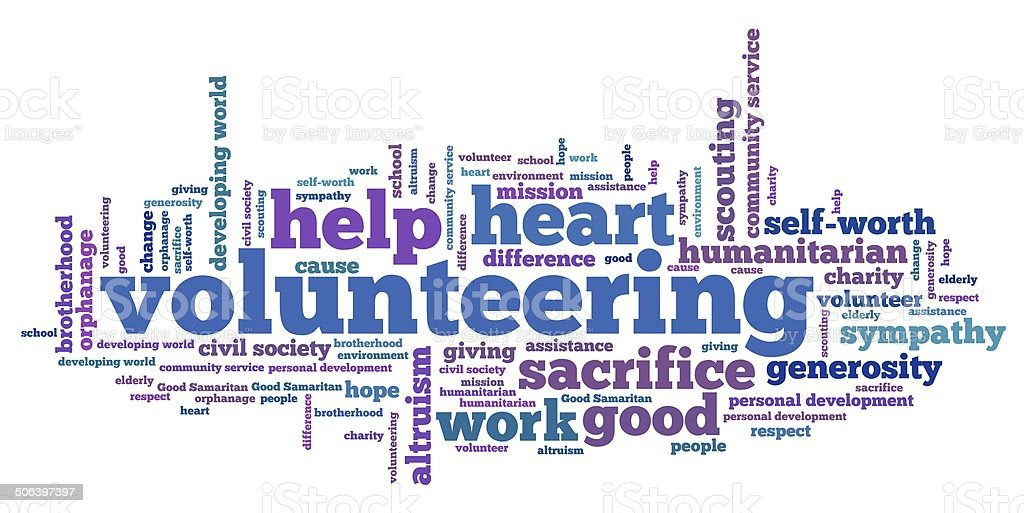 Volunteering vector art illustration