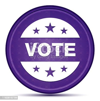 Vote badge icon isolated on Prime Purple Round Button