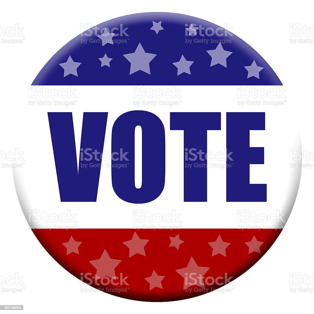 Vote Button - XXL royalty-free stock vector art
