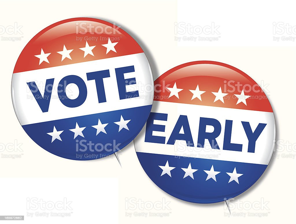 Vote Early vector art illustration