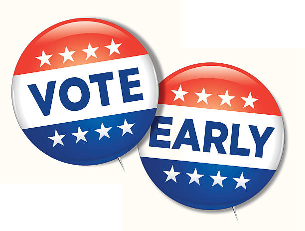bildbanksillustrationer, clip art samt tecknat material och ikoner med vote early - morgon