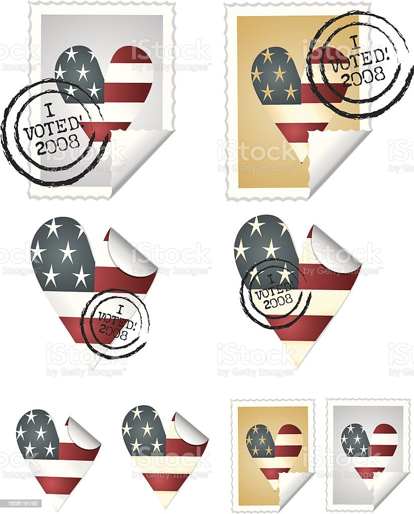 Voted Stickies royalty-free stock vector art