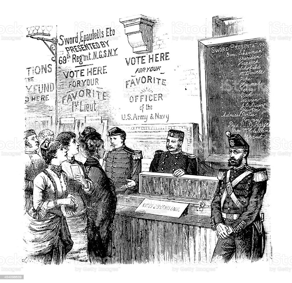 Voting bureau, New York royalty-free voting bureau new york stock vector art & more images of 1880-1889