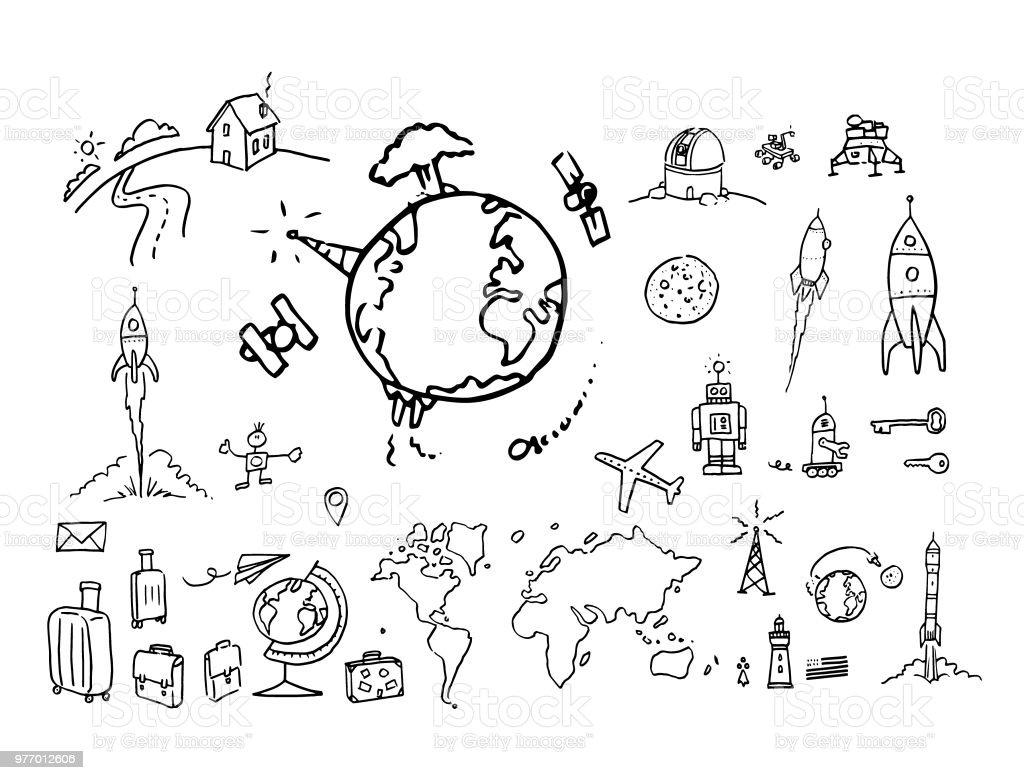 Voyage vector art illustration