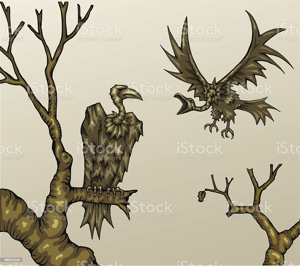 Vultures royalty-free vultures stock vector art & more images of animal body part