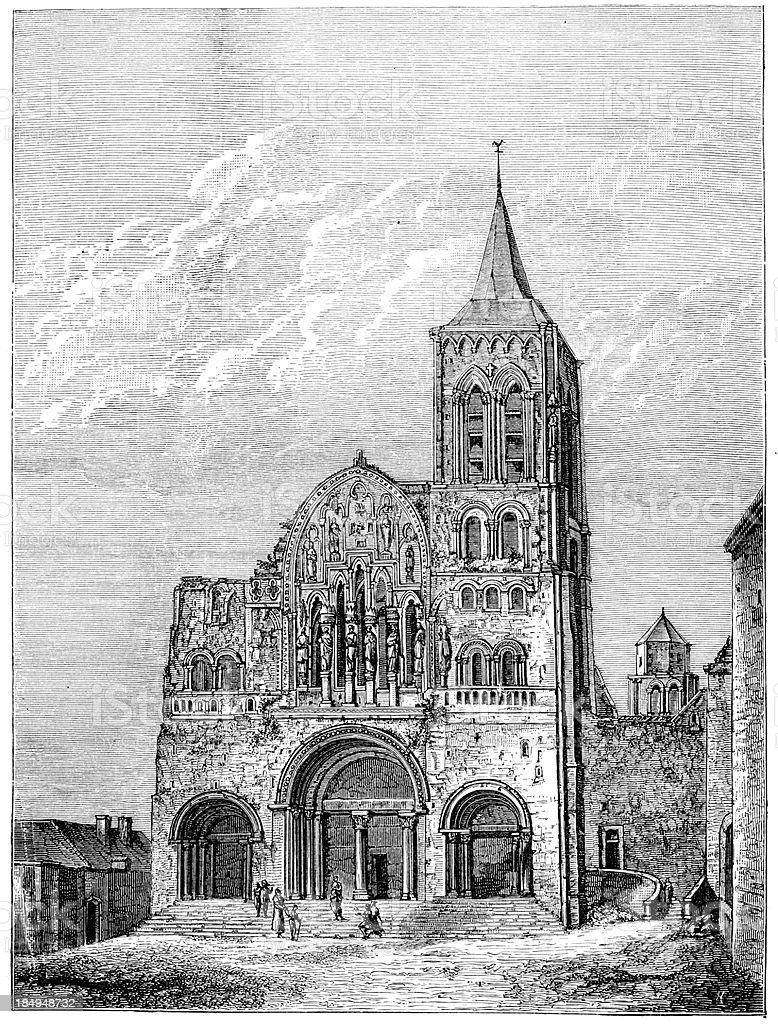 Vézelay Abbey royalty-free vézelay abbey stock vector art & more images of abbey - monastery