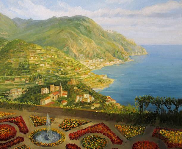 bildbanksillustrationer, clip art samt tecknat material och ikoner med walk in the garden of gods - amalfi