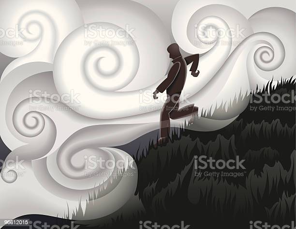Walking Down Hill-vektorgrafik och fler bilder på Berg