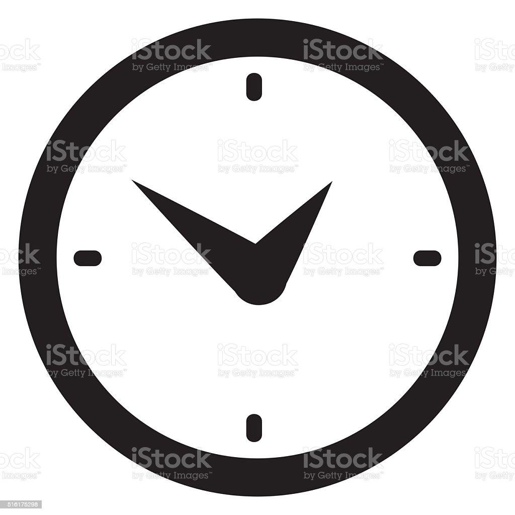Wall clock icon vector art illustration
