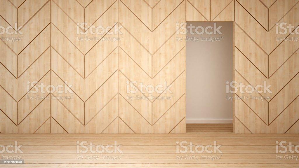 wall decorate in empty room 3d rendering royaltyfree stock vector art