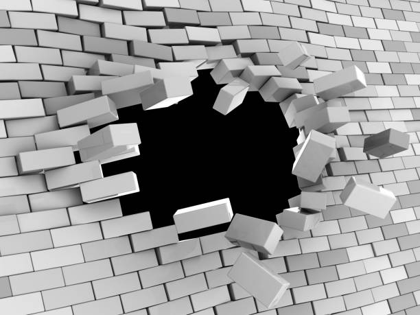 wall hole vector art illustration