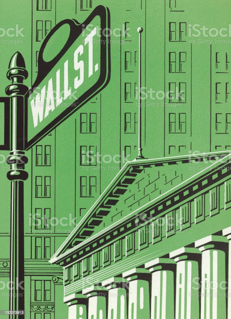 Wall Street royalty-free wall street stock vector art & more images of architectural column