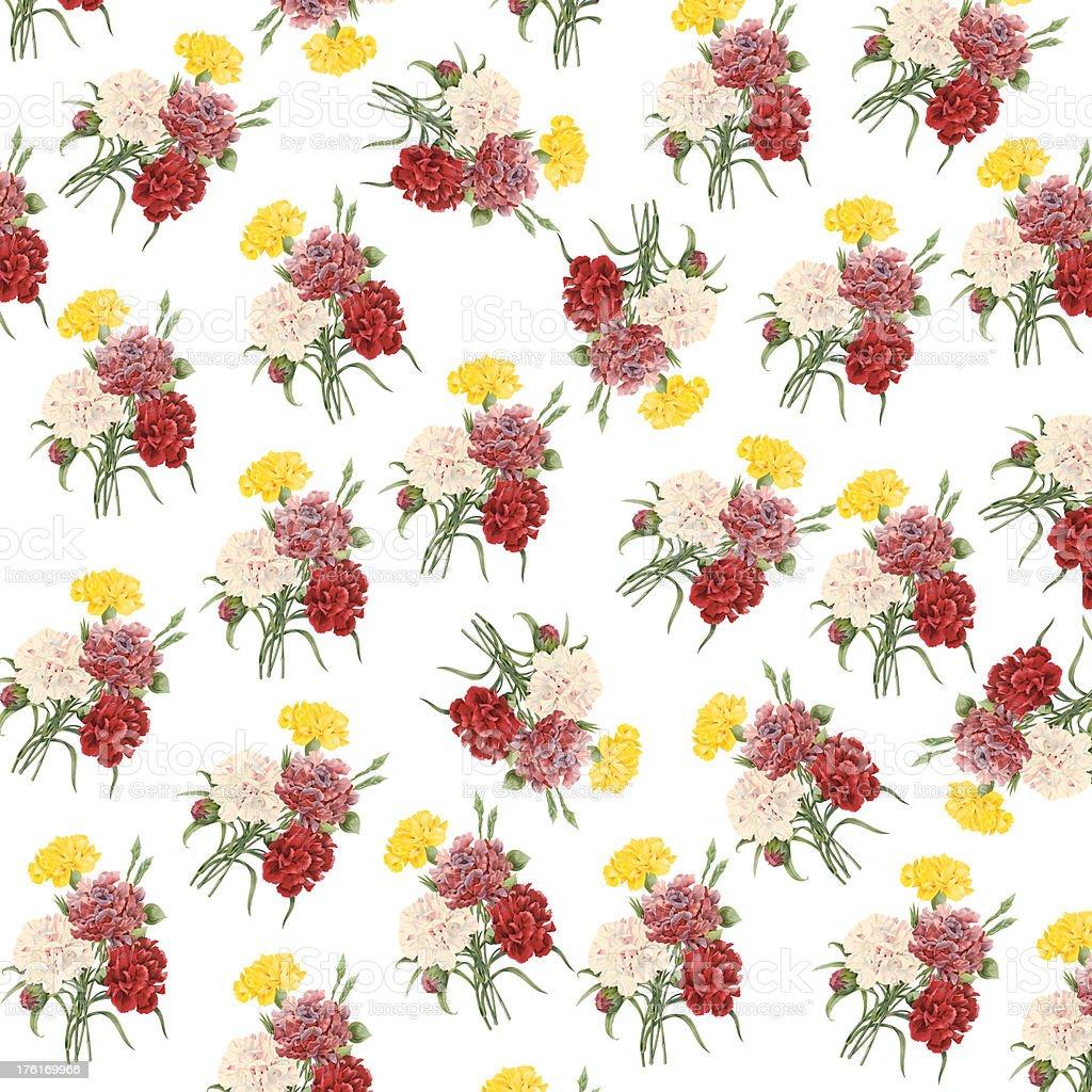 壁紙フラワーアンティークの花のイラスト 19世紀のベクターアート