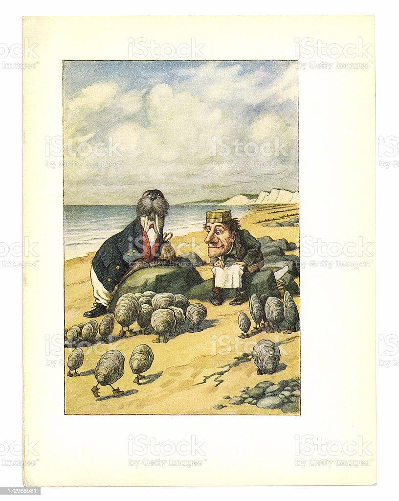 Tricheco E Carpenter Illustrazione Alice Nel Paese Delle Meraviglie