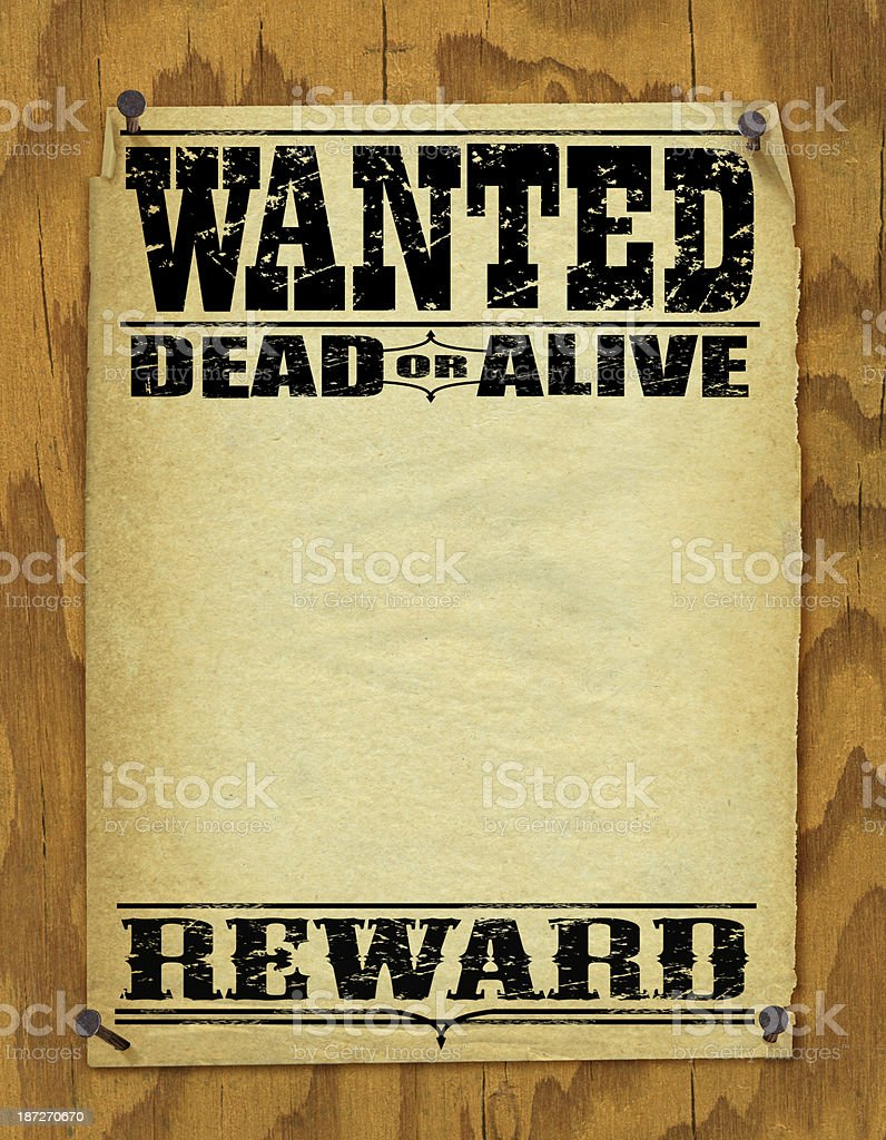 Wanted Poster Background - Vintage royalty-free stock vector art
