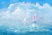 istock Warm sea - wash drawing 473796852