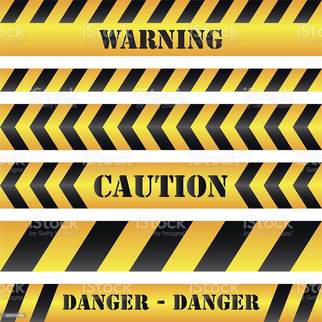 Warning and caution tape vector art illustration