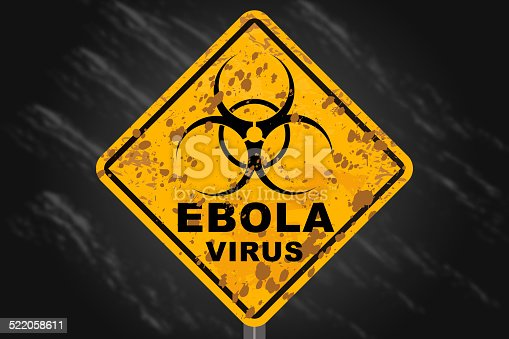 Warning Ebola sign