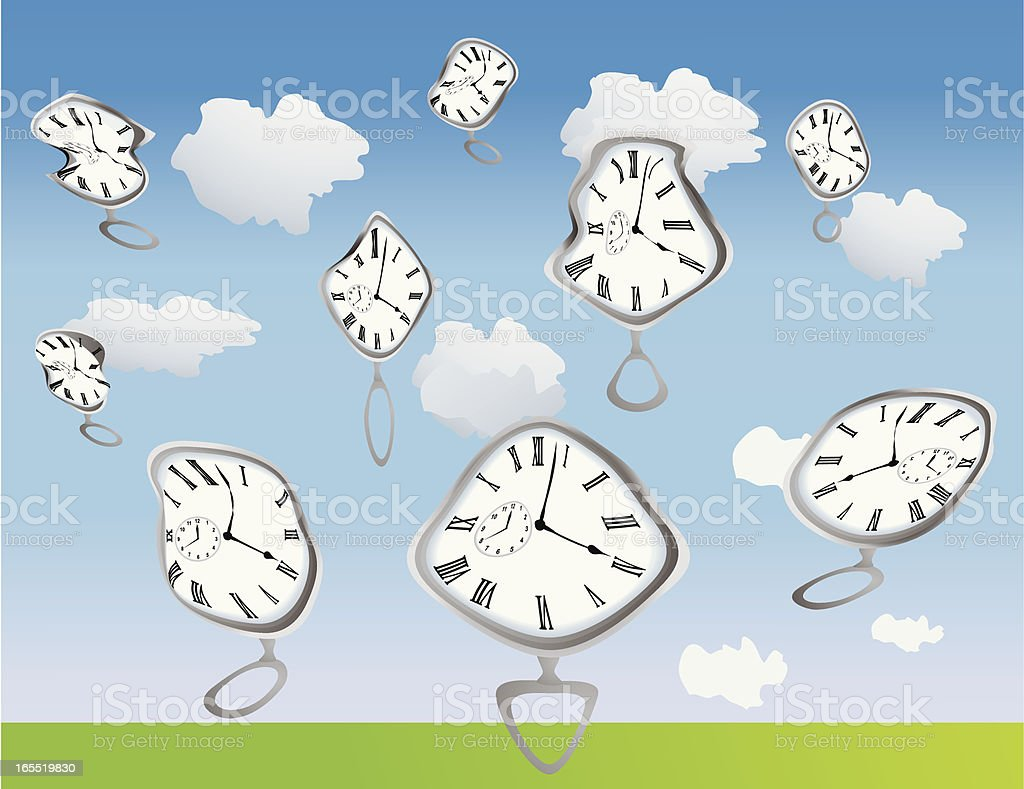 Warped Time royalty-free stock vector art