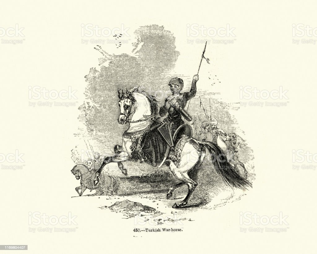 Warrior Riding A Turkish War Horse Stock Illustration Download Image Now Istock