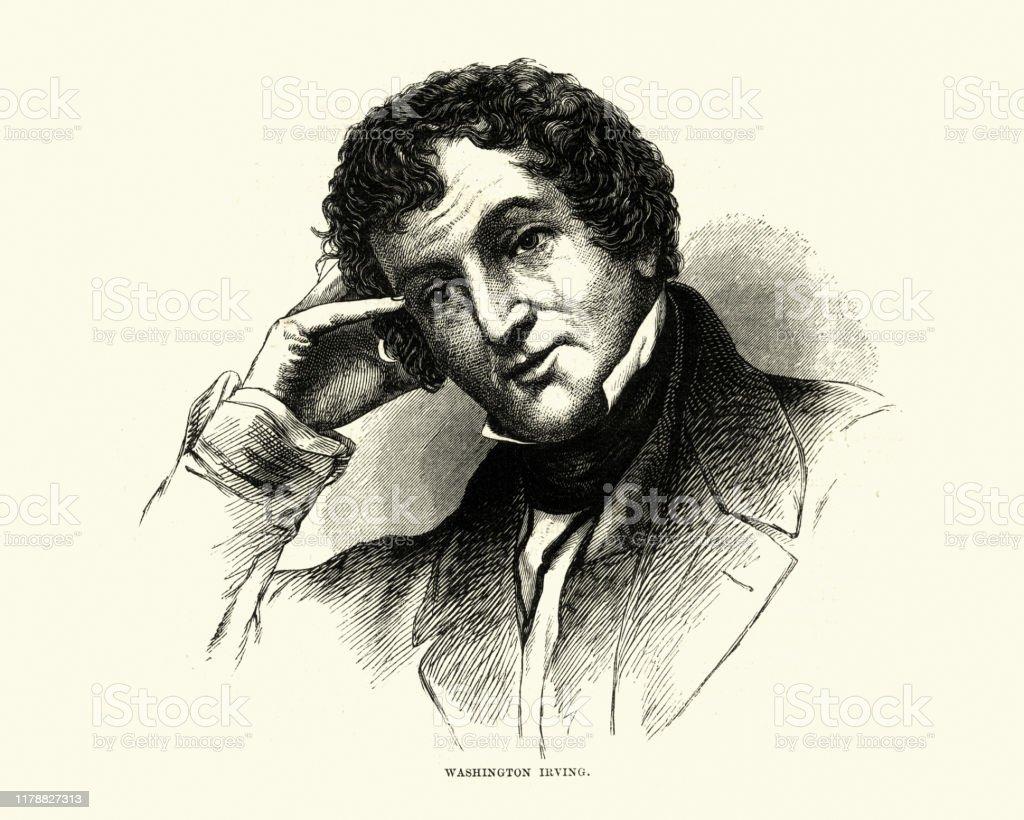 ワシントンアーヴィングアメリカ作家19世紀 - 19世紀のベクターアート ...