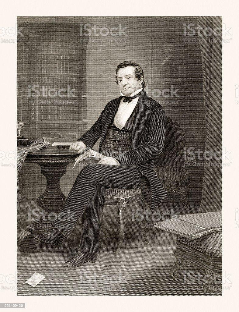 ワシントンアーヴィングのポートレート19 世紀 - 19世紀のベクター ...