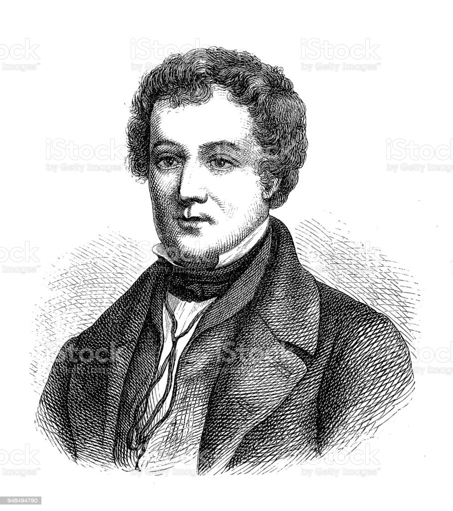 Washington Irving (April 3, 1783 – November 28, 1859) was an American short story writer, essayist, biographer, historian, and diplomat of the early 19th century. vector art illustration