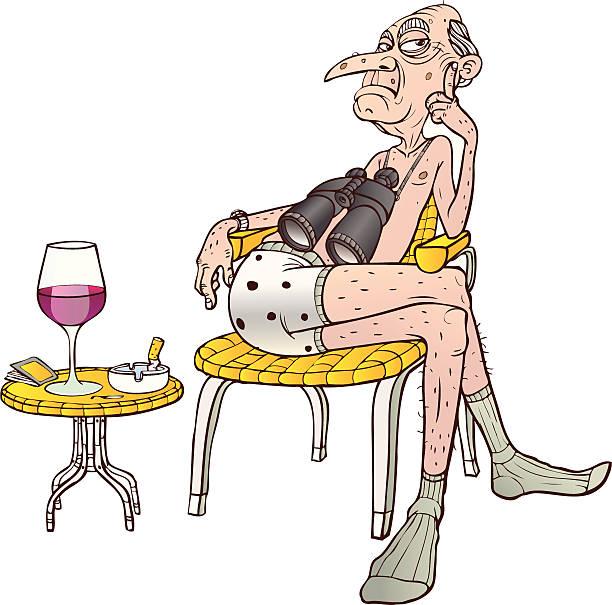 watcher - old man glasses cartoon stock illustrations, clip art, cartoons, & icons