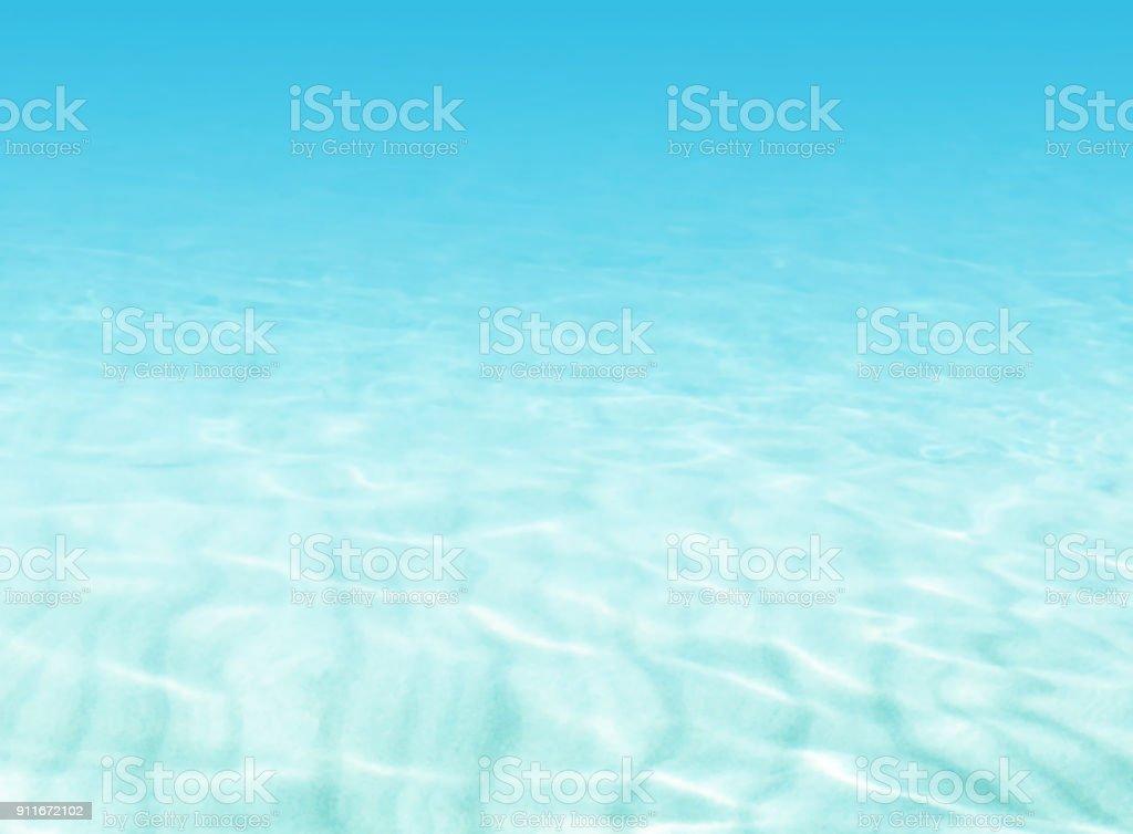 水背景 - ビーチ シーン - 夏の休日コンセプト ベクターアートイラスト