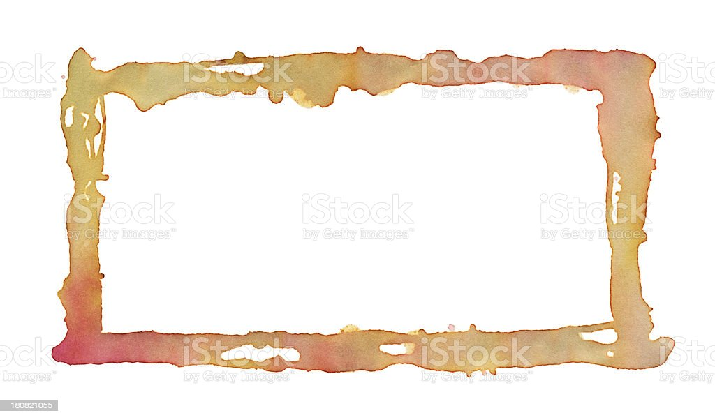 Water Color Paint Rectangle Frame royalty-free stock vector art