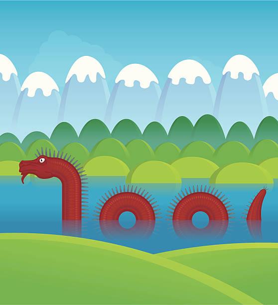 illustrazioni stock, clip art, cartoni animati e icone di tendenza di drago d'acqua asiatico - fiordi