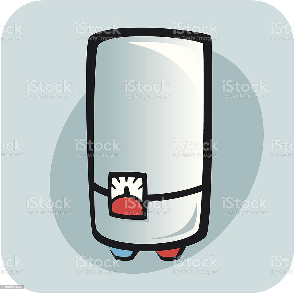 Water heater - boiler vector art illustration