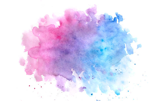 Watercolor abstract background vector art illustration