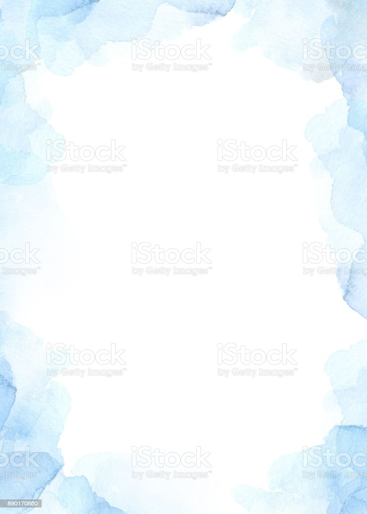Abstrait Aquarelle avec des touches de bleus. Humeur de l'hiver. Parfait pour les invitations, cartes de voeux, citations, articles, mariage images, affiches, estampes - Illustration vectorielle