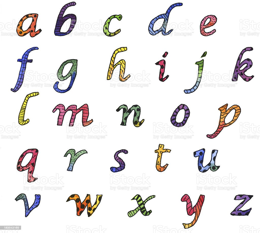 Watercolor Alphabet royalty-free stock vector art