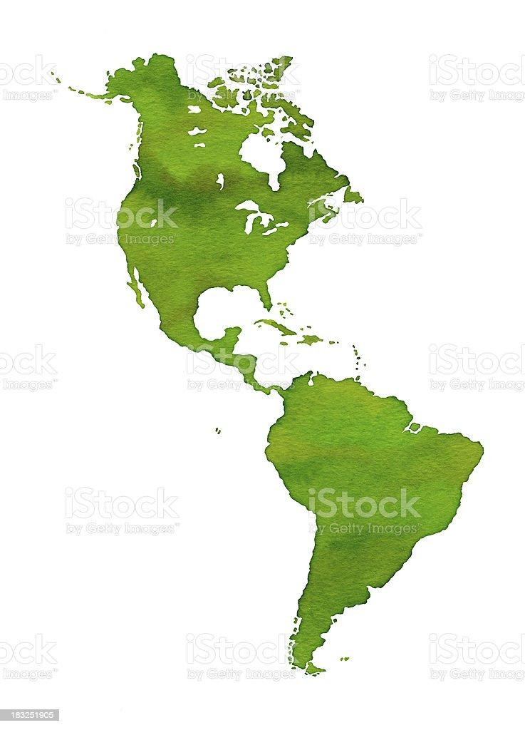 Watercolor Americas royalty-free stock vector art