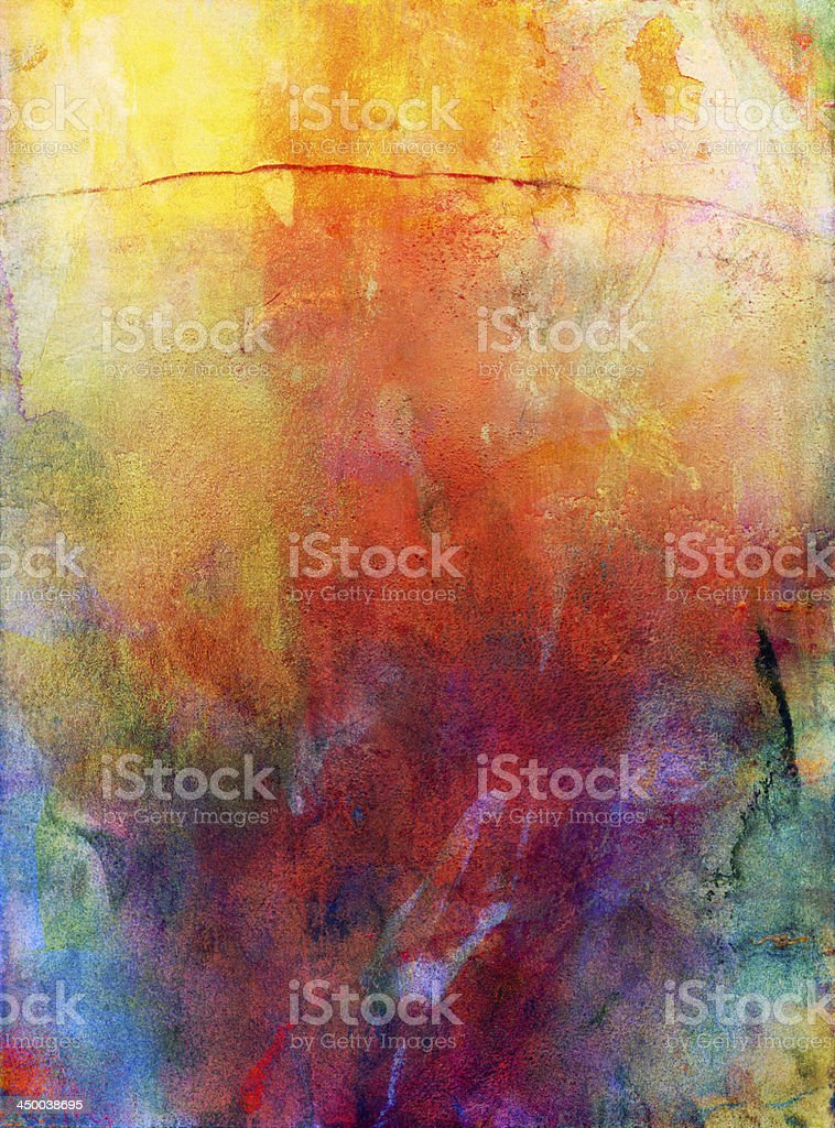 watercolor and gouache background - Royalty-free Abstract stock illustration