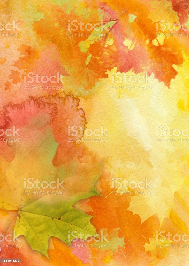 Watercolor autumn background - illustrazione arte vettoriale