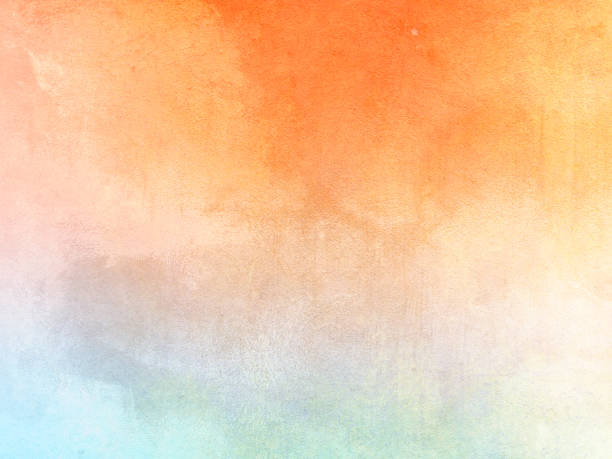 Watercolor background - abstract pastel color gradient with soft texture Colorful fresh backdrop fall background stock illustrations