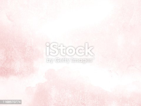 istock Watercolor background texture in subtle pink style - abstract pale pastel pattern fading to white 1168570774