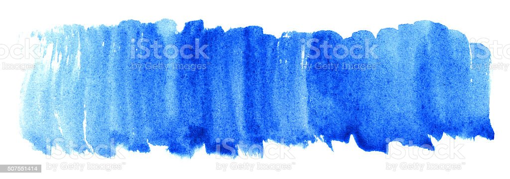 Watercolor blue cyan spot texture background isolated vector art illustration