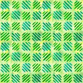 istock Watercolor blue green  diagonal strip ornament. Seamless pattern. 1208362785