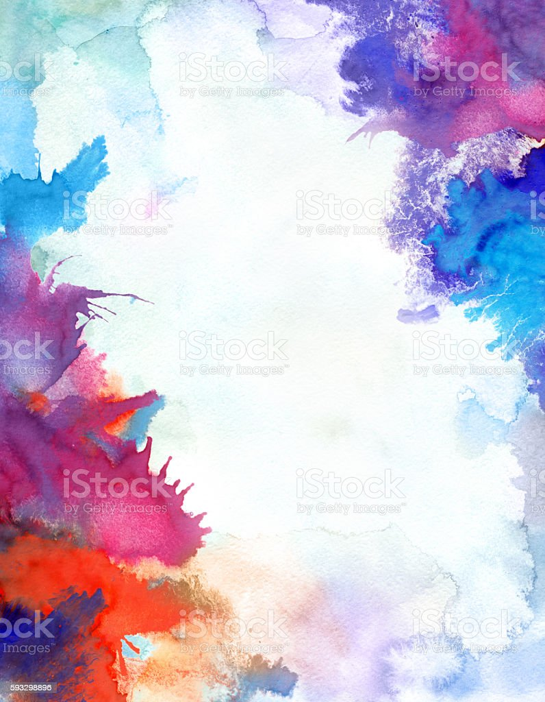 watercolor border – Vektorgrafik