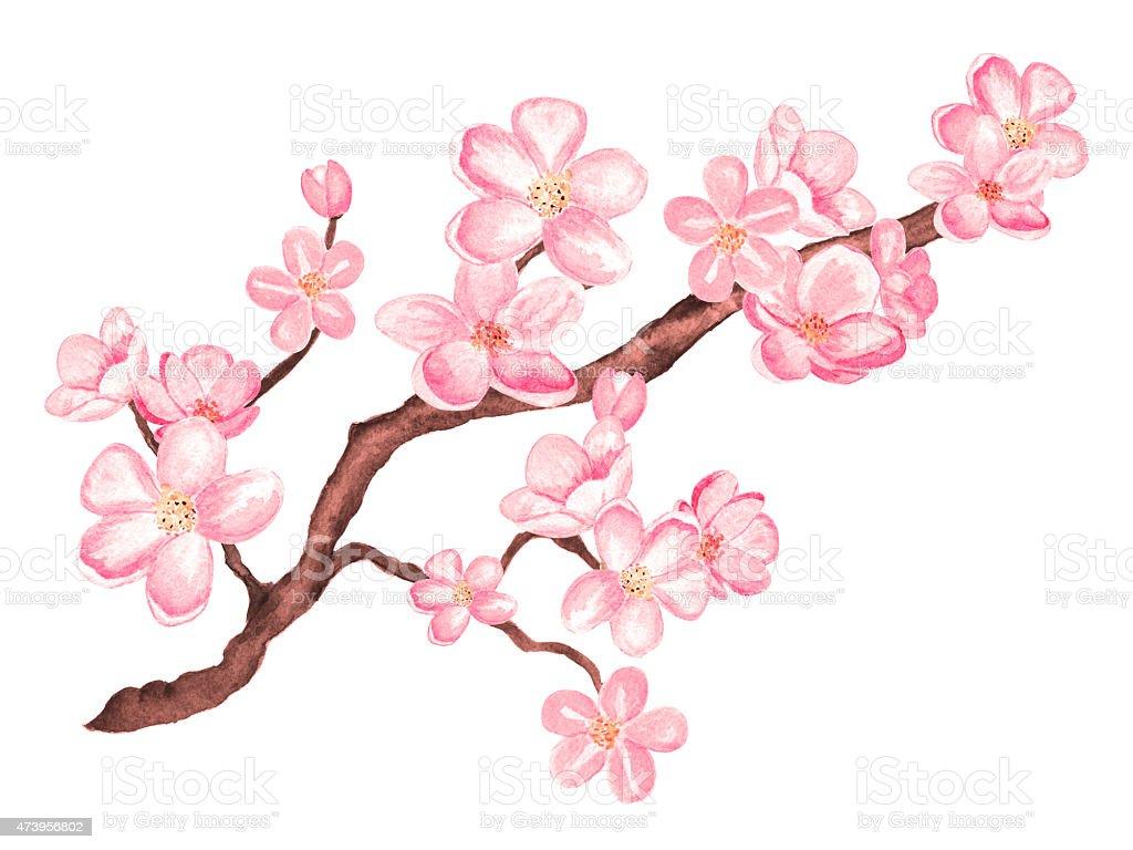 tatouage hibou et fleurs de cerisier