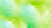 Hand painted watercolor bright green abstract background