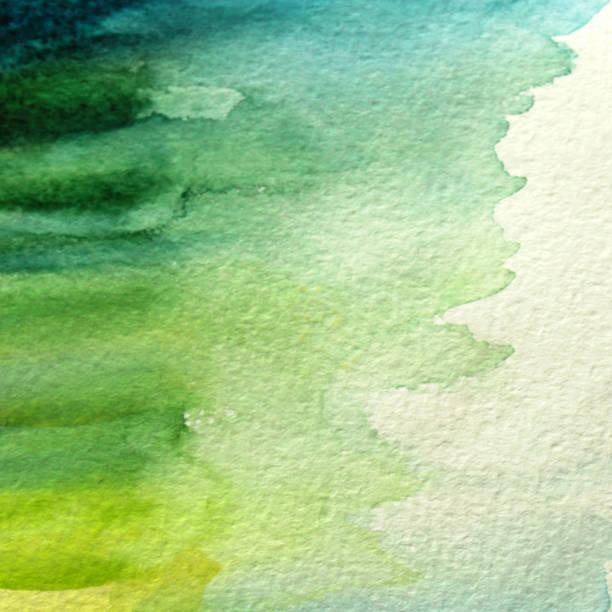 illustrazioni stock, clip art, cartoni animati e icone di tendenza di watercolor brushstroke green art background - huế
