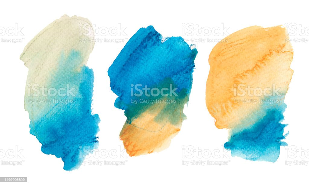 Watercolor Brushstroke Paint Patch Abstract Hand Drawn