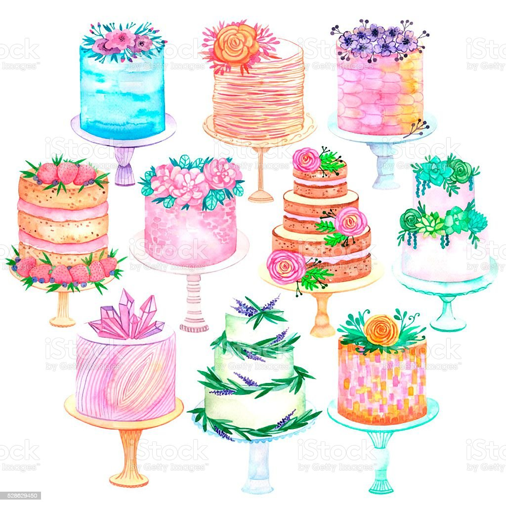 Cake Watercolor Frosting