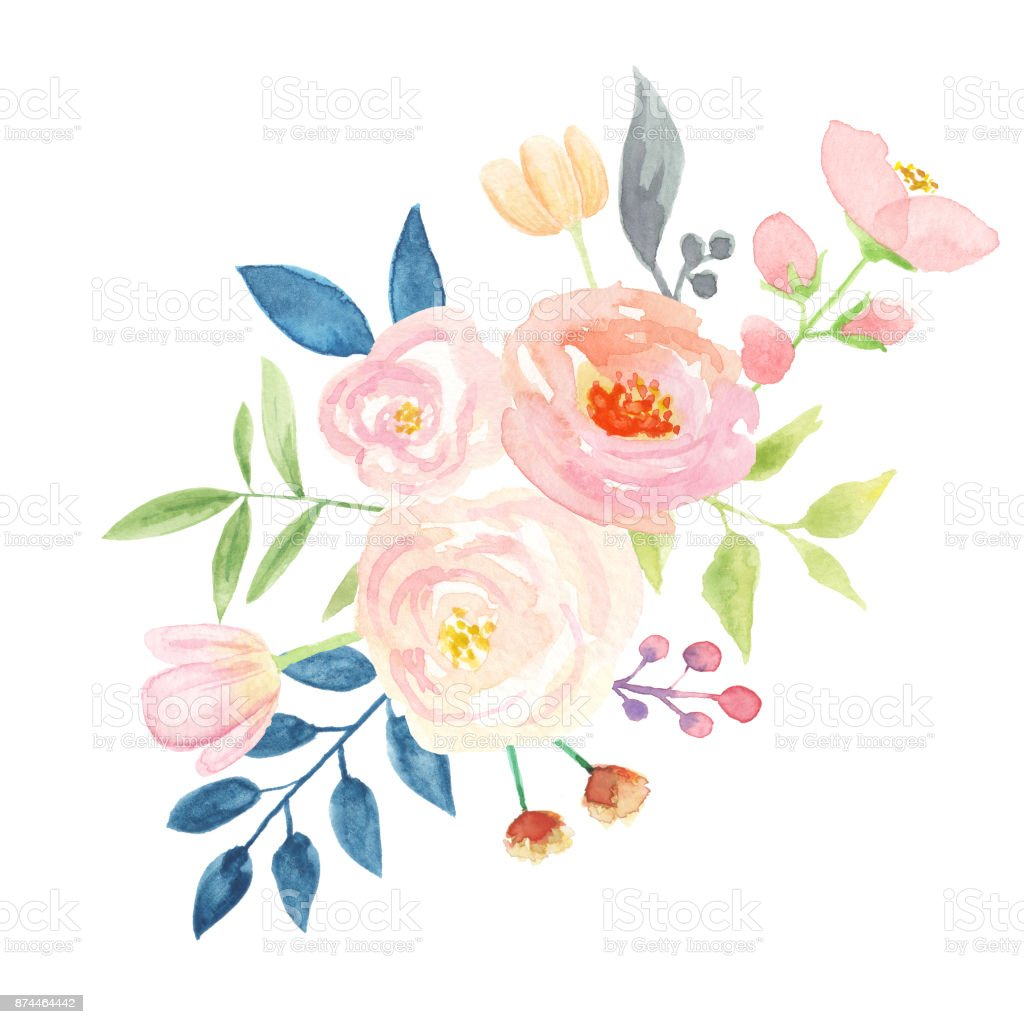 Watercolor candy flower bouquet arrangements floral berries leaves watercolor candy flower bouquet arrangements floral berries leaves royalty free watercolor candy flower bouquet arrangements izmirmasajfo